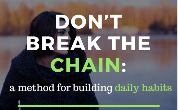 Don't break the chain: a method for building daily habits, blog post at Yissel.com